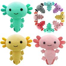 2021 nowy Kawaii Axolotl pluszowe zabawki Cartoon Cute Animal nadziewane pluszowe lalki dla dzieci urodziny świąteczne prezenty na Halloween tanie tanio XZCAI CN (pochodzenie) Tv movie postaci MATERNITY W wieku 0-6m 7-12m 13-24m 25-36m 4-6y 7-12y 12 + y 18 + Genius Lalka pluszowa nano