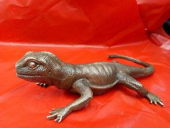Vivid Varanus Dragon Sculpture Ornamental Resin Monitor Lizard Statue Art and Craft Accessories for Study and Office Decoratio