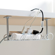 Organizer Shelf Wire-Cord Storage-Rack Cable-Management-Tray Under-Desk Power Living-Room