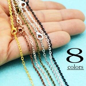 Image 4 - 100 pcs  18 Inch Antique Bronze Cable Chain necklace, 18 inch Chain Necklace, Antique Brass Chain Necklace, 45cm Bronze Necklace