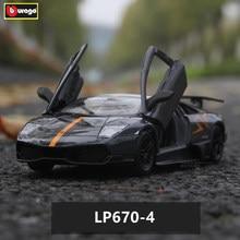 Bburago 1:24 Lamborghini LP670-4 alloy car model simulation car decoration collection gift toy цена