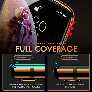 15D Curved Edge Full Cover Protective Glass On The For iPhone 7 8 6 6S Plus Tempered Screen Protector For X XR XS Max Glass Film 1