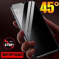 Protector de pantalla de Protección de Privacidad para OnePlus 7T 7 Pro, cristal templado curvo y antiespía 9D para OnePlus 7T 6 5T