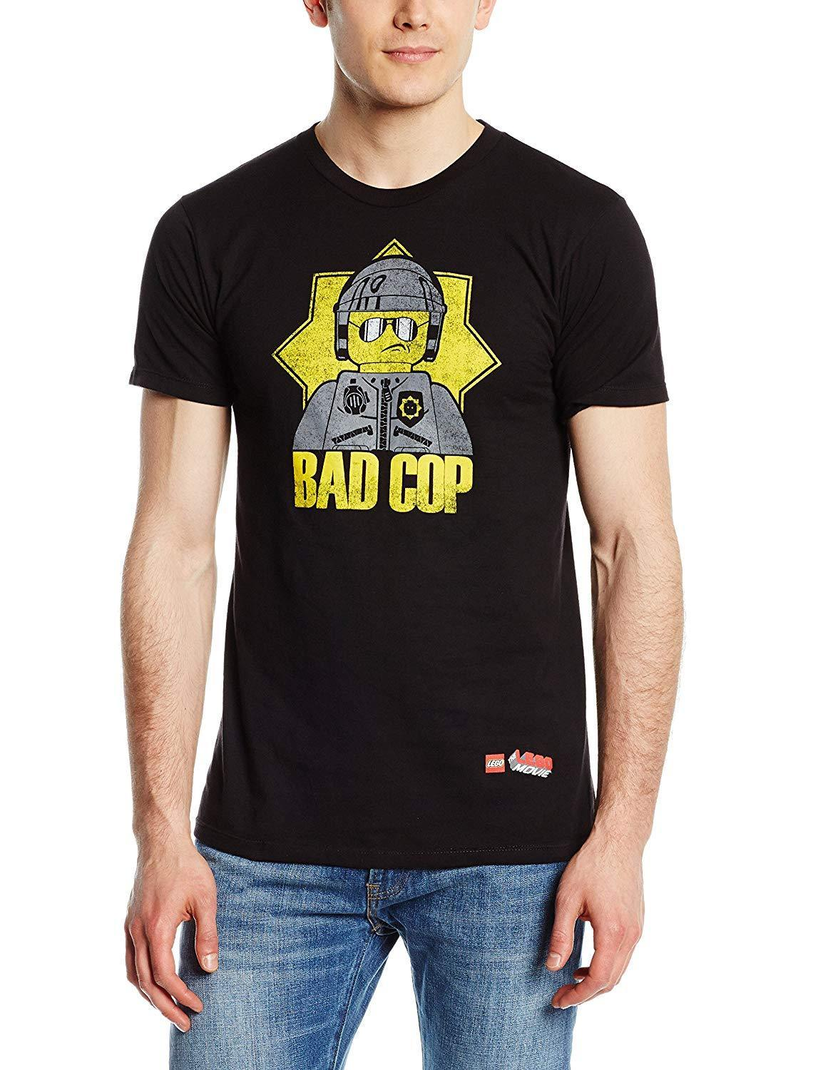 Adult Black Comedy Movie Lego Bad Cop Police Officer Interrogator T-Shirt Tee image