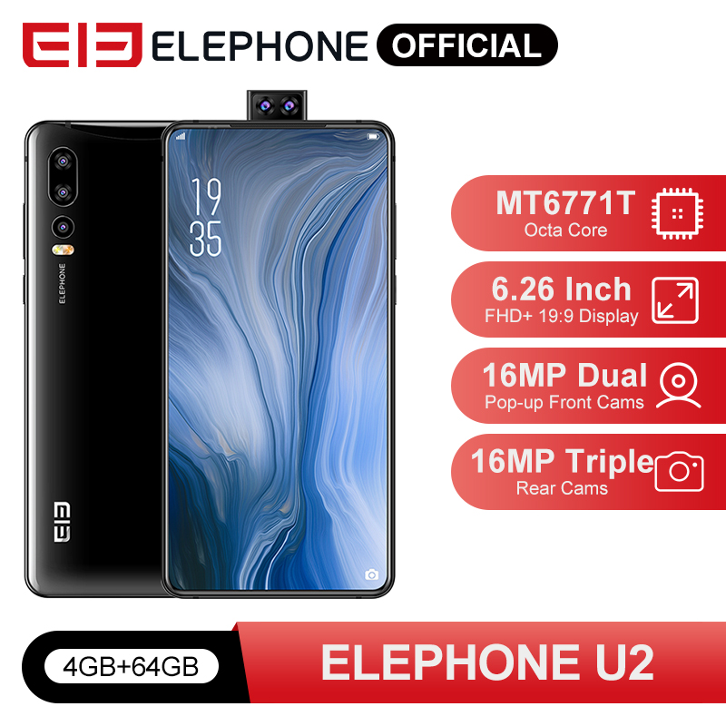 ELEPHONE U2 MT6771T Octa Core Mobile Phone 4G/6G 64G/128G 16MP Pop-up Cam 6.26