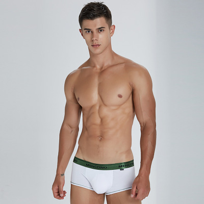 Menscino Men's Sexy Underwear Cotton Low Waist Slim Boxer Youth Sports Breathable Boxer