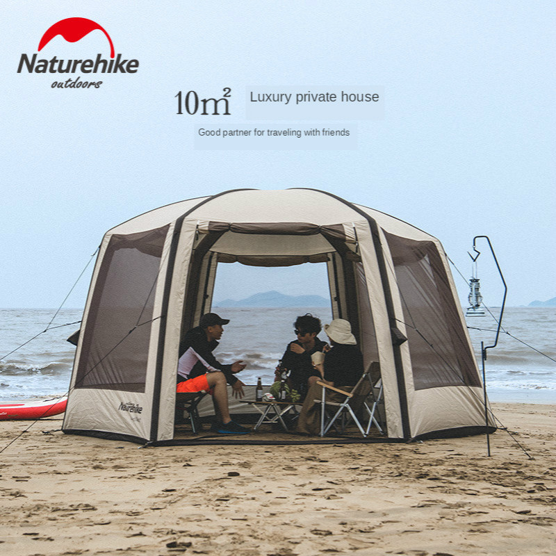 Naturehike NEW Air Pole Tent Outdoor Camping Beach Large Tent Inflatable Tents Waterproof Canopy Air Pole Bower