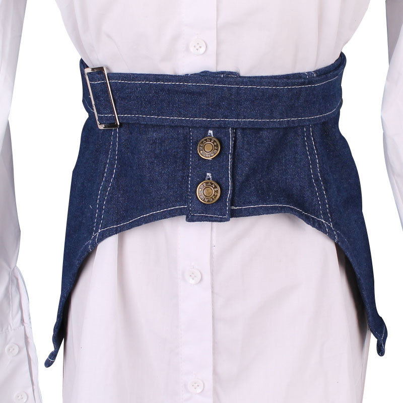 Fashion Stylish Corset Belt 2020 Spring Trendy New Design Solid Wide Belts For Women Female All-match Denim Waistband Tide ZK489