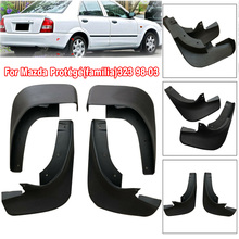 цена на 4pcs/Set Mudguard Mud Flap Splash Guard Mudflaps For Mazda Protege 323 98-03