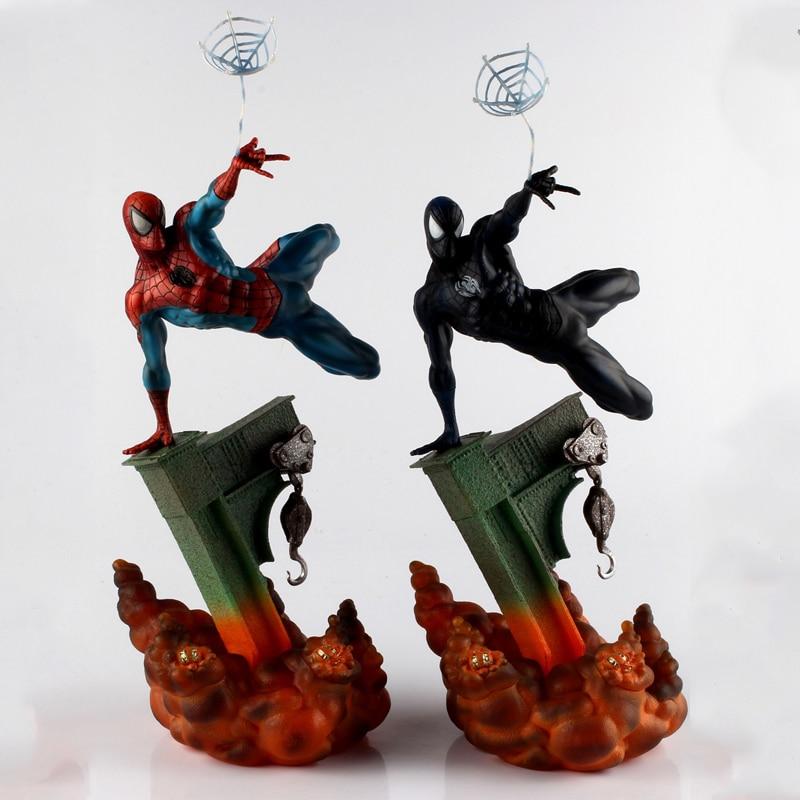 Komik Marvel Thanos Artfx Spiderman Pahlawan Seri Marvel Avengers 3 Infinity Perang Tindakan Sosok Mainan PVC Model Mainan untuk Anak-anak hadiah