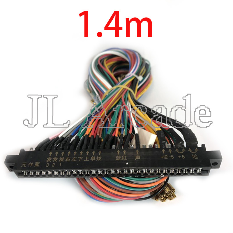 Pandora Jamma Wire Harness 28 Pin Jamma Loom 140cm Length Joystick Button Connector For Arcade Cabinet Accessories Games 60 In 1