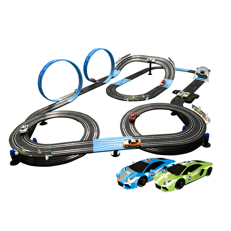 1:64 Double Electric Remote Control Toy Car Track Electric Autorama Circuit Car Interactive Racing Track Toys Race Track For Boy