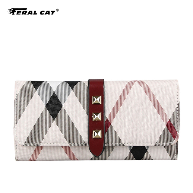 PVC Leather Female Clutch Wallet