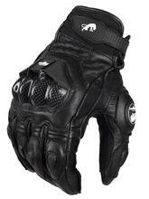 Luvas de couro da motocicleta dos homens moto motocross luva protetora respirável ao ar livre equitação luva guanti moto
