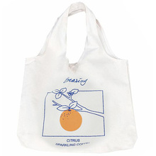 Chic Simple Fruit Orange Shoulder Bag Literary Female Large
