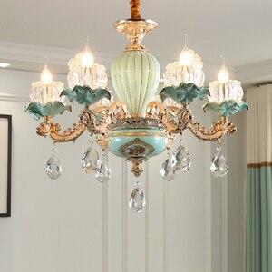 Image 2 - Modern Chandelier Lustre Crystal Chandeliers Kitchen Lamp LED Lighting Dining Room Crystal lights Living room chandeliers hotel