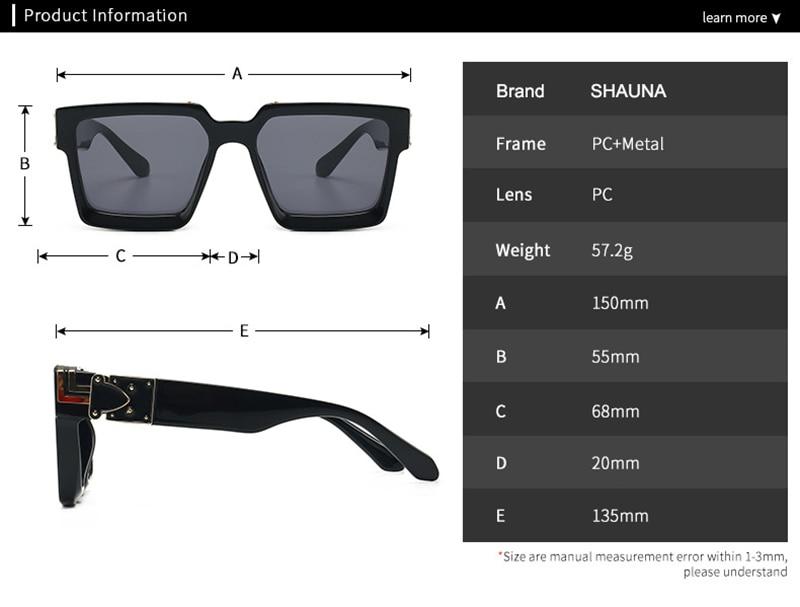 Retro Square Sunglasses Women Ins Popular Sun Glasses Men UV400