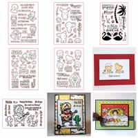 Mixed Lovely Animal Clear Stamp Cartoon Flamingo Squirrel Elephant Goat Special Word Pattern Stamps DIY Scrapbooking Album
