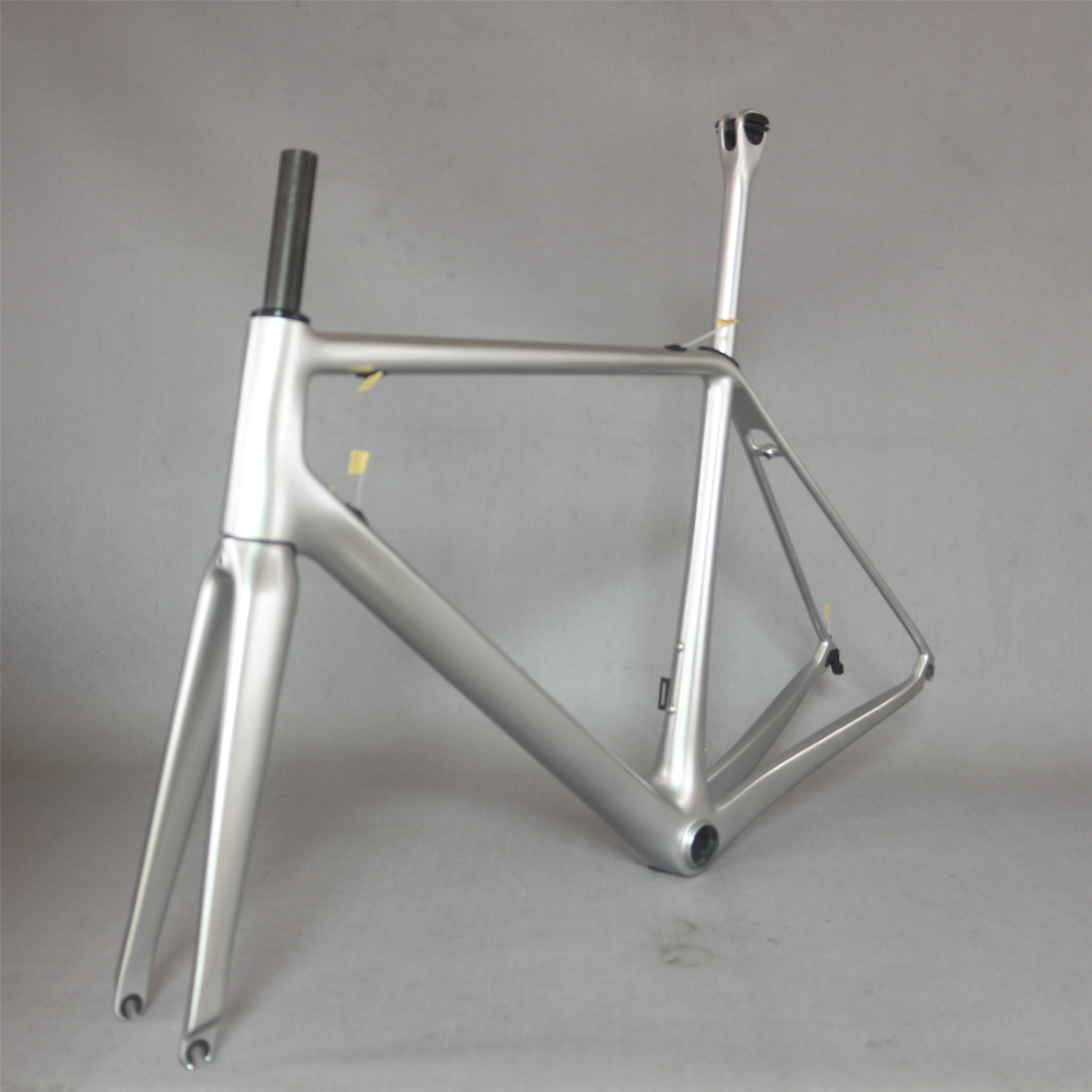 Seraph Custom Silver Plating Paint BB86 Carbon Fiber T800 And T1000 Mixed Carbon Fiber Normal Brake Superlight Road Frame FM609