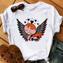 Крутые белого цвета для девочек Футболка с принтом женская футболка