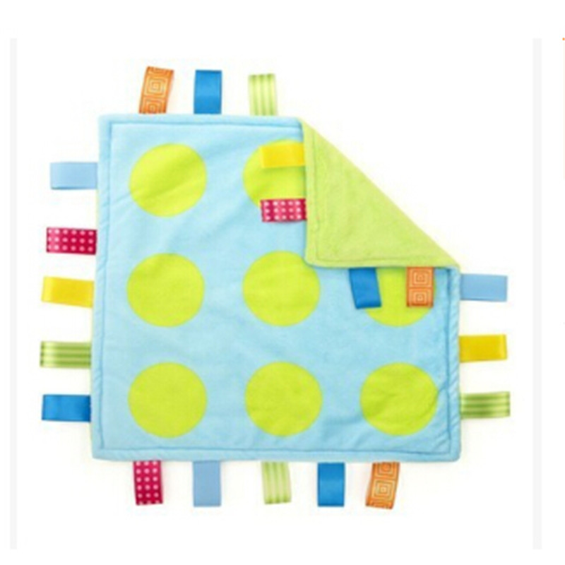 27*27CM Super Soft Rattle Baby 0M+ Plush Soothe Towel Comforting Toy Educational Security Blanket