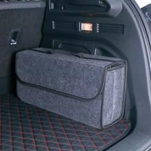 Organizer-Tool-Bag Storage-Box Compartment Car-Trunk-Organizer Felt Soft Large Anti-Slip