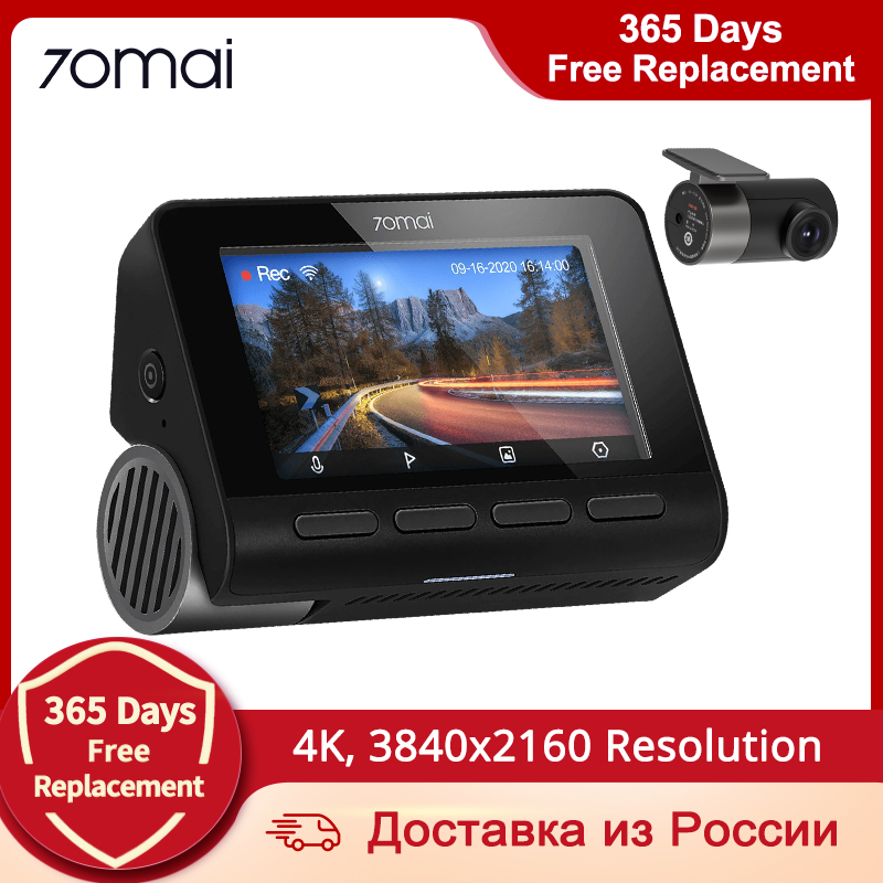 70mai A800 4K Dash Cam 4K GPS Built-in ADAS DVR Dual-Vision 140 FOV Real 4K UHD Cinema-quality video Camera 1
