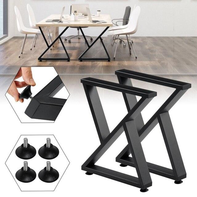 2pcs Iron Table Legs Irregular Furniture Legs Floor Protection Sofa Cabinet Chair Table Desk Leg DIY Accessories Home Furniture