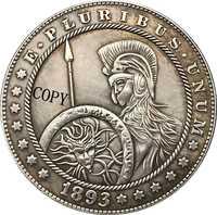 Hobo Nickel 1893-S dólar Morgan de EUA tipo de copia de monedas 183