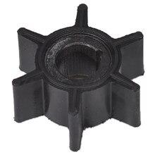 Hélice de pompe à eau en caoutchouc noir, pour moteur hors-bord Tohatsu/Mercury/Sierra 2/2.5/3.5/4/5/6hp, 6 lames, pièces de bateau et accessoires