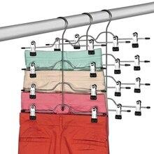 4 уровня брюк Вешалки с зажимами на выбор (по 3 предмета в комплекте), юбка Вешалки, экономия пространства, вешалка для брюк, с Нескользящие Ре...