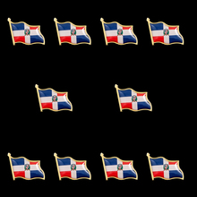 10PCS Dominican Country National Flag Badge Brooch Flag Lapel Pin International Travel Pins Collectible 10pcs collectible national flag slovenia country zinc alloy lapel pins set brooch badge for clothing accessories