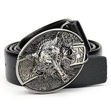 Men's Wolf buckle Belt Tiger Dragon Scorpion spider Vulture Eagle skull Undead g