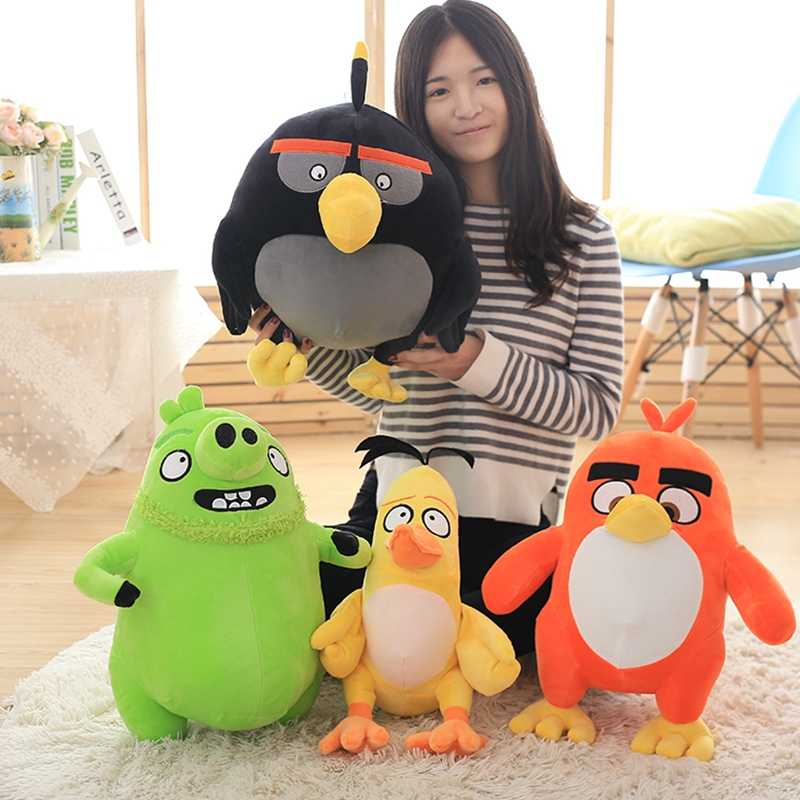 Genuine angry birds 2 plush toys lovely super sprouting peace elite bird, pillow, pig doll doll