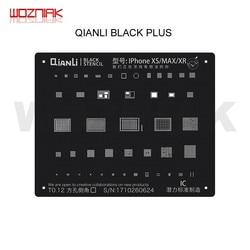 QIANLI czarne z połyskiem matryca do reballingu uniwersalny dla IPHONE 6 6P 7 7P 8 8P X XS XR XS max A8 A9 A10 A11 A12 CPU NAND IC siatka stalowa w Zestawy narzędzi ręcznych od Narzędzia na