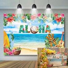 Aloha Luau Fondo Tropical Hawaiano para fiesta, foto de playa, decoración de fiesta de cumpleaños, Baby Shower, Verano