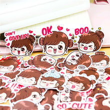 40pcs Colorful LINE expression boobib girls stickers diary photo album decoration DIY ablum diary scrapbooking label sticker