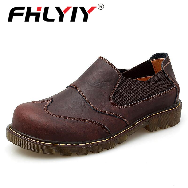 Fhlyiy Brand New Oxford Men'S Shoes Top Quality Tooling Shoes Men Flats Fashion Genuine Leather Casual Shoes Zapatos De Hombre