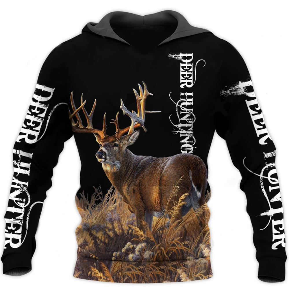 Camo AMO HUNTING ANIMALS Deer ART 3D Hoodies Hoodie Men Women New Fashion Hooded Sweatshirt Long Sleeve Casual Pullover-3