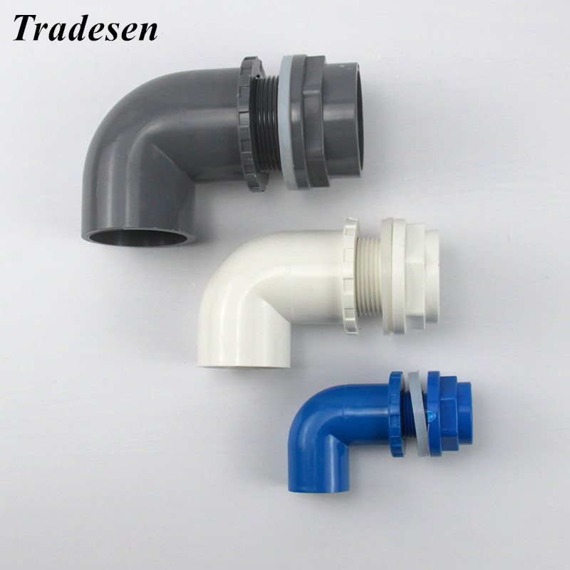 I.D 20/25/32mm L Type PVC Pipe Connectors Thicken Fish Tank Drain Pipe Joints Garden Irrigation Water Supply Tube Drainage Parts