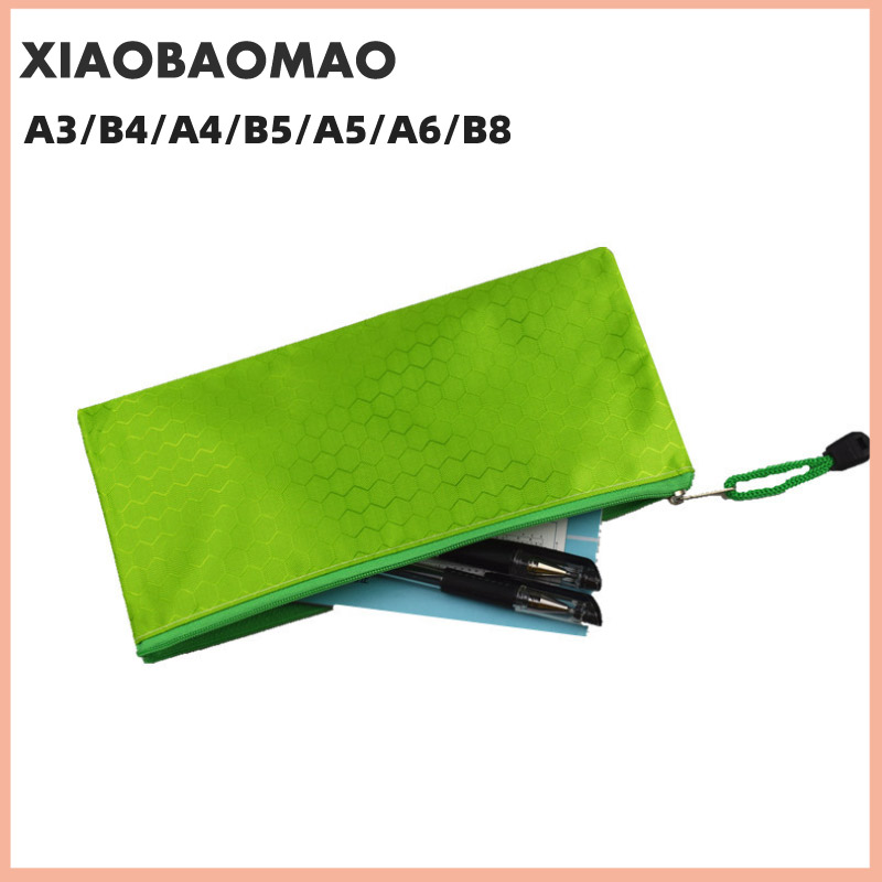 Canvas B8 A6 A5 B5 A4 B4 A3 Zipper Bags Colorful Document Pouch File Bag File Folder Stationery School Words Filing Production 5