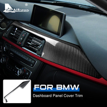 Lhd Voor Bmw F30 F31 F32 F33 F34 F36 Accessoires Real Carbon Fiber Auto Dashboard Panel Decoratieve Cover Sticker Interieur trim