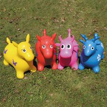 Inflatable Jumping Horse Inpany Bouncy Horse Hopper Bouncing Animal Toys for Kid