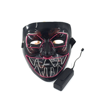 New Luminous Mask Halloween Party Masque Masquerade Masks Neon Maske Light Glow In The Dark Cosplay Props Decor Supplies
