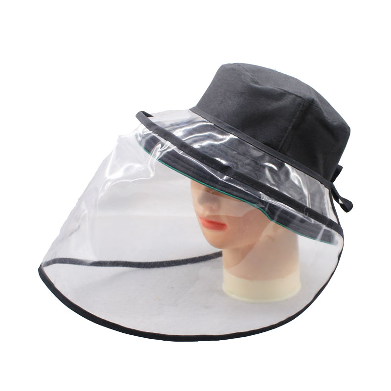 SUOGRY Fisherman's Hat Clear Bucket Hat Protective Multi-function Dust-proof Anti-saliva Prevent Virus Protection Cap