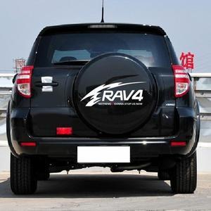 Image 1 - Auto Aufkleber Reflektierende Rav4 Ersatz Reifen Aufkleber Zurück Reifen Aufkleber Reserverad Abdeckung Decals Für Toyota