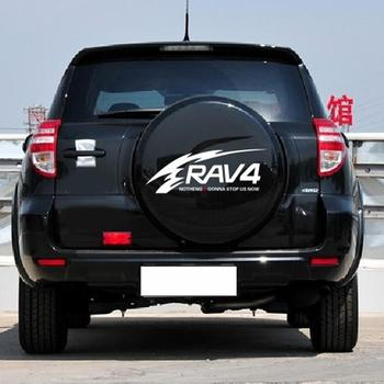 цена на Car Stickers Reflective Rav4 Spare Tire Stickers Back Tire Stickers Spare Tire Cover Decals For Toyota