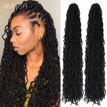 Cabello rizado sintético de tamaño largo, trenzas de ganchillo, pelo de ganchillo, pelo de raíces africanas, Riversa