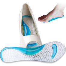 1 pair Lady Shoes Pad With Non-Slip Arch Support And Cushion Orthotics Silicone