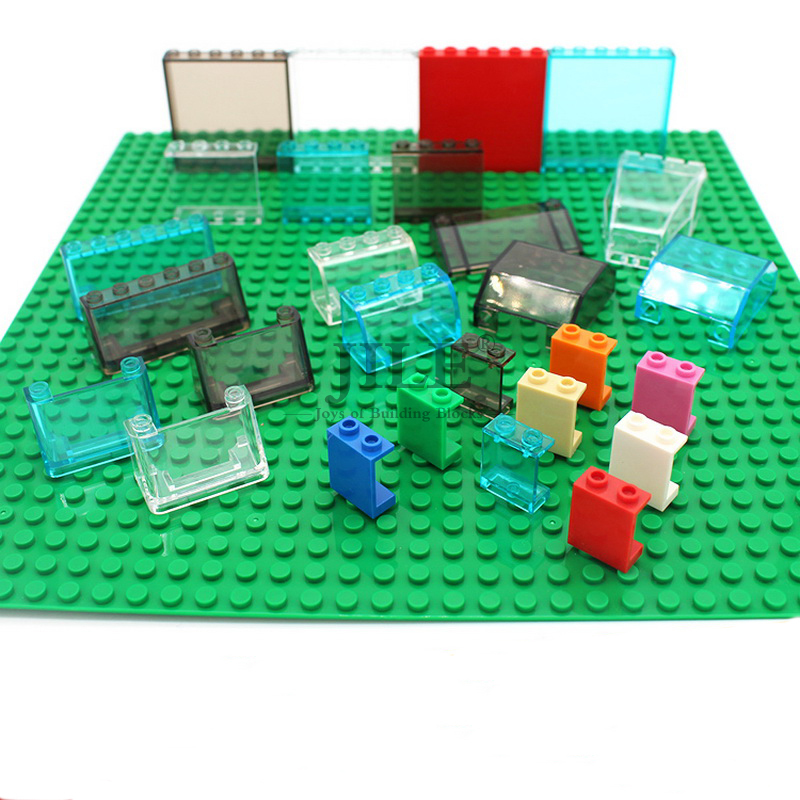 MOC Transparent ABS Glass Tablet Plate City Street View Windows DIY Building Enlighten Block Bricks Compatible With Particles